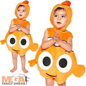 finding nemo poisson 3 24 mois b b d guisements disney animal infant costume ebay. Black Bedroom Furniture Sets. Home Design Ideas