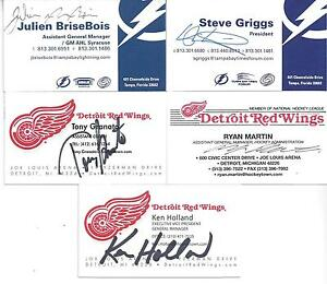 Detroit red wings general manager ken holland signed business card image is loading detroit red wings general manager ken holland signed colourmoves