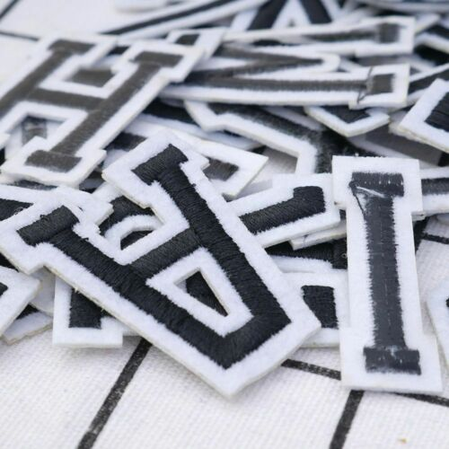 Sew or Iron On Embroidered Letter Patch Badge Sticker Cloth Applique DIY Crafts