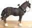 Shire-Cart-Heavy-Horse-in-harness-ornament-figurine-quality-Leonardo-gift-boxed miniatuur 3