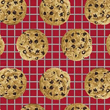 In the Mix Chocolate Chip Cookies Food Cotton Windham Fabrics #1629 By the Yard