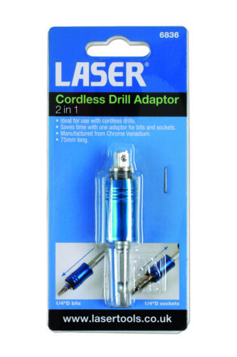 Cordless Drill Adaptor 2 In 1 6836 Laser Top Quality Replacement