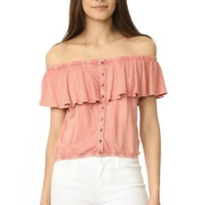 NWT-58-WE-THE-FREE-PEOPLE-CORAL-LOVE-LETTERS-OFF-SHOULDER-CROP-TOP-Large