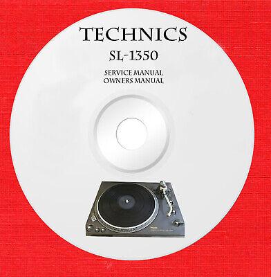 Technics SL-1350 Repair Service owner manual on 1 cd in pdf format