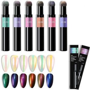 Pearl Pigment Stift Effekt Nailart Puder Glitzer Aurora UV Gel Nageldesign Trend