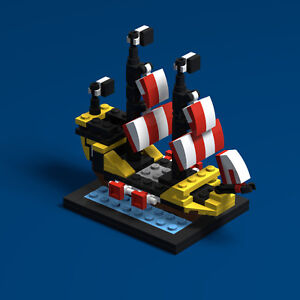 LEGO-60th-Anniversary-6285-Black-Seas-Barracuda-PDF-Instructions-LDD-Files