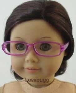 "Lovvbugg Purple Lavender Eye Glasses for 18"" American Girl Doll Clothes Accessory"