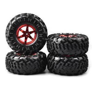 130mm-4Pcs-1-10-Bigfoot-Tires-amp-Wheel-12mm-Hex-For-RC-Monster-Truck-Climbing-Car