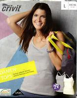 Damen Tops Sport Fitness Mode 2 Er Pack Gr. M-l Wellness Freizeit Neu Ovp