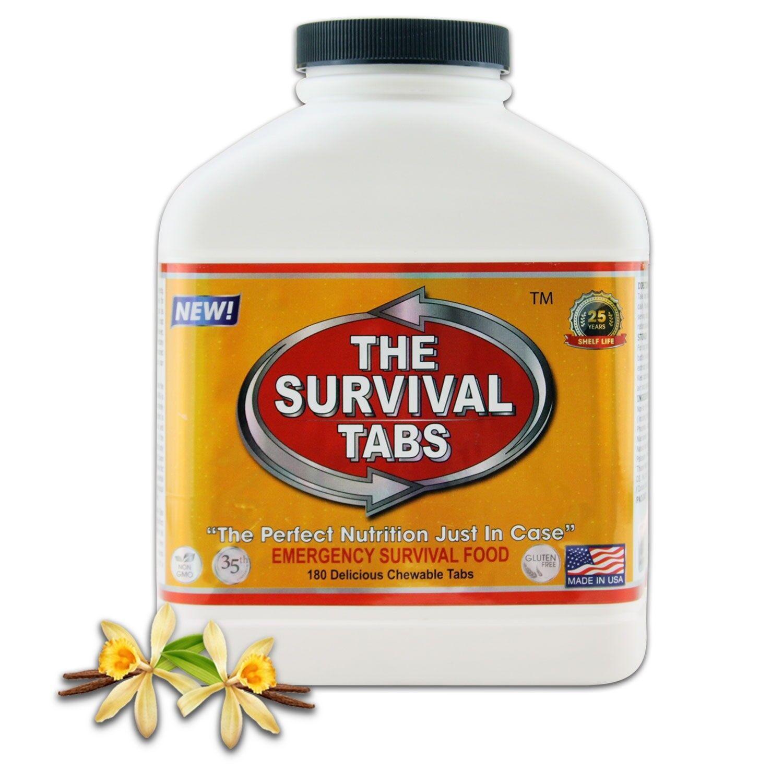 New Hurricane Survival Food Survival Tabs 180 Vanilla Malt Flavor
