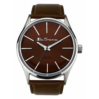 Ben Sherman Men's Quartz Watch with Brown Dial Analogue Display and Brown PU ...