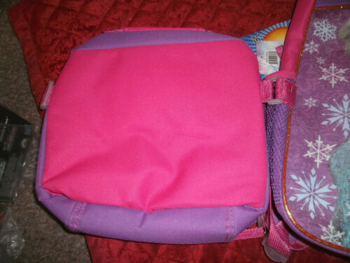 FROZEN ELSA AND ANNA PURPLE /& PINK BACKPACK WITH SOFT LUNCHBOX NEW WITH TAGS