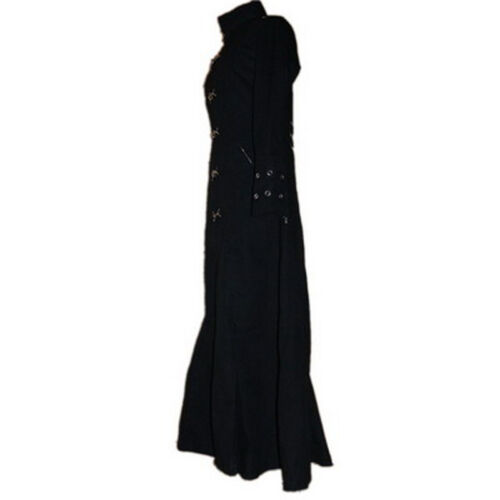 Nero lungo Bondage Cotone donna 9025 Cappotto gotico per O4qXf7