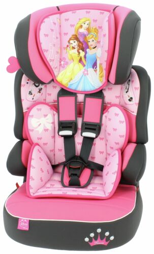 TT Disney Princess Beline Group 1/2/3 High Back Booster Seat