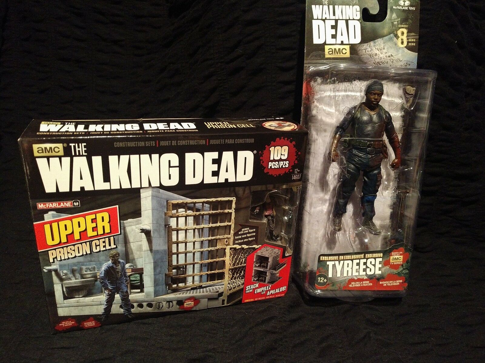 NEW Walking Dead Tyreese Action Figure Target Exclusive,Upper Prison Cell Set