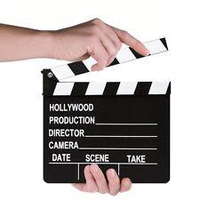Véritable clap de cinéma 20 X 18cm - Accessoire de tournage ou décoration neuf