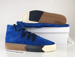 Alexander Wang X Adidas Originals Men's 11 Skate Mid Shoes Blue Suede AC6849