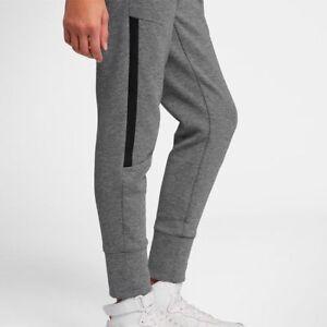 506ee21f026c Nike Girls Kids Tech Fleece Pants Cuffed Joggers Sweatpants GREY ...