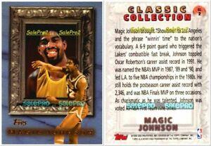 TOPPS-1998-MAGIC-JOHNSON-NBA-LA-LAKERS-LEGEND-CLASSIC-COLLECTION-CL2