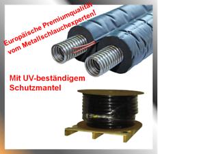 Solarleitung-Solarrohr-Doppelrohr-Edelstahlwellrohr-DN16-20-25-Isolierung14mm