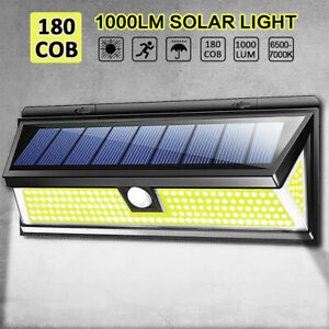 180LED-Solar-Power-PIR-Motion-Sensor-Wall-Light-Outdoor-Garden-Lamp-Waterproof-Y