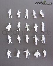 100 x Modell Figuren, weiß unbemalt, für Modellbau 1:200, Modelleisenbahn Spur Z