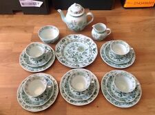 RARE Adams English Ironstone Calyx Ware 19 Piece Tea Set Chinese Garden Pattern.