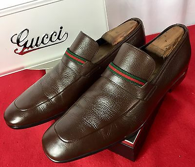 c2a54eb8961 Mens Brown Gucci Leather Loafers Sz 8.5 UK 9.5 US 42