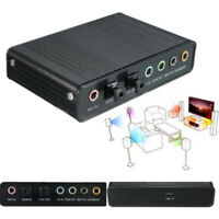 USB External 4 Channel 5.1 S/PDIF Optical Sound Card Audio For Netbook Laptop PC