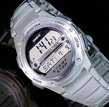 Casio Digital Herrenuhr Armband Uhr Silber Farben Chronograph W-756D-7AVES