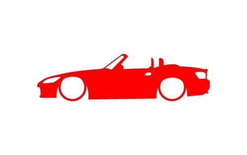 "Honda S2000 Car Body Outline Window Sticker Vinyl Decal Red 4/"" 4x1 inch"