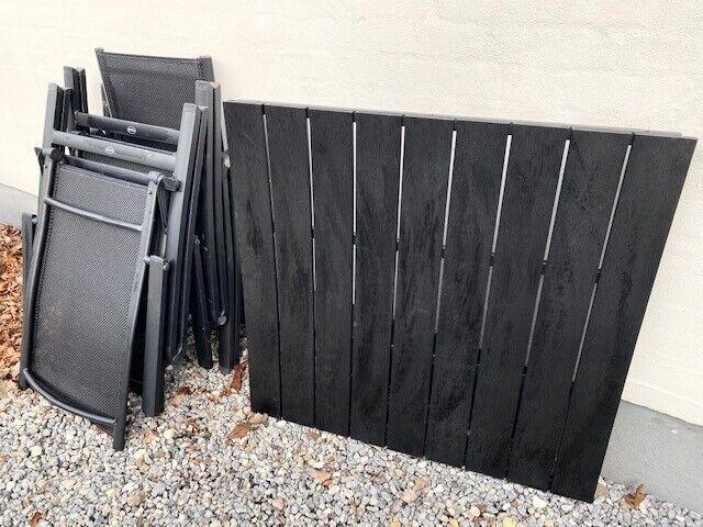 Havemøbelsæt, Jutlandia, Sort metal