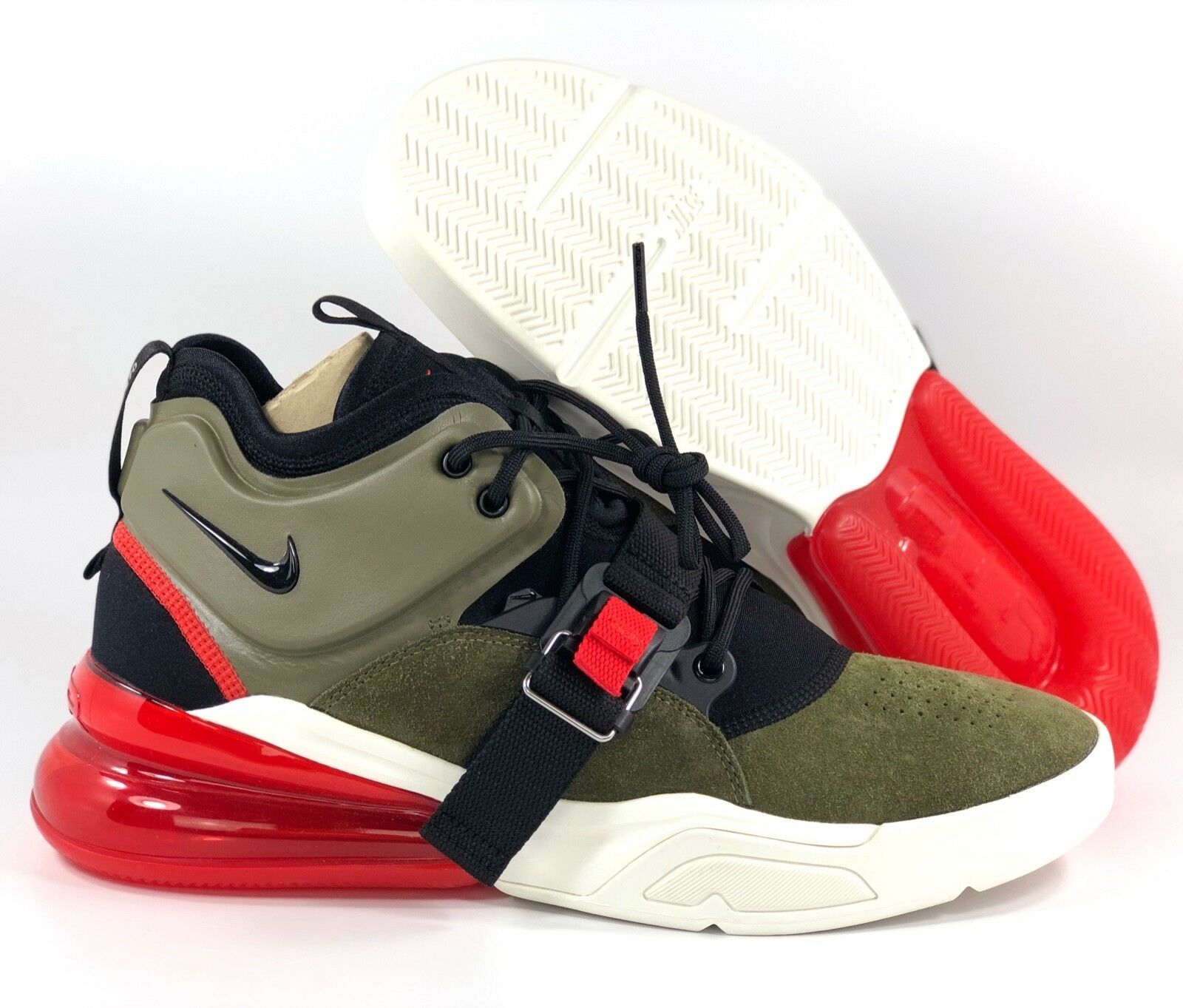 d37377bec6 Nike Air Force 270 Medium Olive Green Black Red White AH6772-200 ...