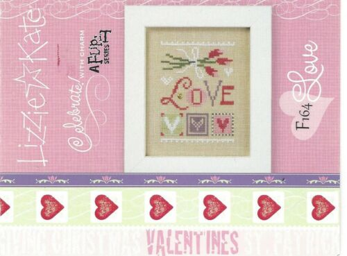 Valentine Love February Flip It Lizzie Kate Chart  with Charm
