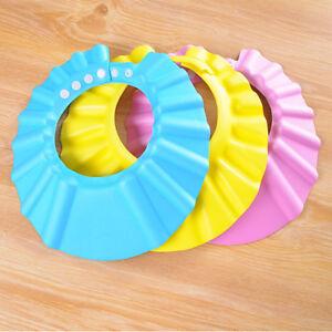 Baby-Kids-Waterproof-Bathing-Cap-Shower-Protect-Hat-Soft-Adjustable-Visor-Hat