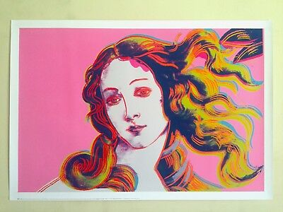 Birth of Venus Red by Andy Warhol Art Print Offset Lithograph Poster 27.5x39.5
