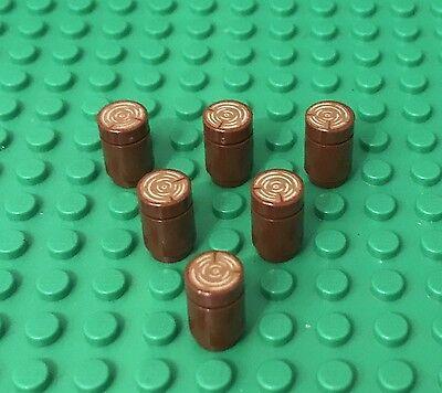 Lego 10 Pieces Reddish Brown 1x1 Round Tile W// Tree Stump Log Pattern Bulk Parts