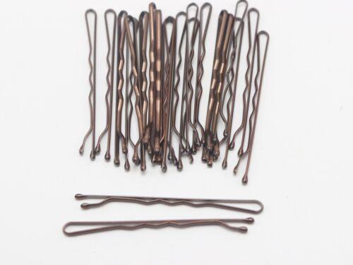 100pcs Metal Bobby Hair Pin Clips Barrette 50mm Ball Tips Salon Styling Bob Pins
