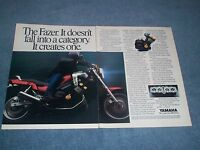 """1986 Yamaha Fazer 2 page Vintage Motorcycle Ad """"It Doesn't Fall into a Category"""""""