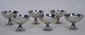 Set-6-COPPE-GELATO-pesanti-Acciaio-Inox-18-10-steel-vintage-AL-PU-Alessi-1LQ