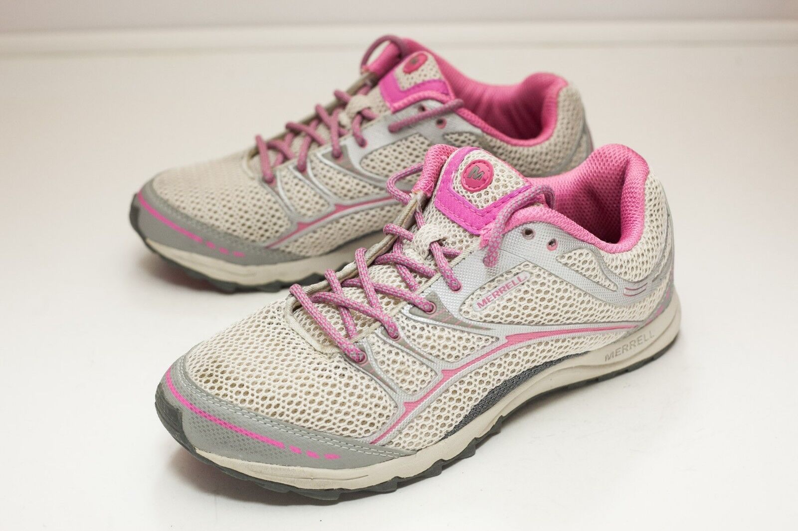 Mr/Ms Merrell 7 Gray Pink Trainers Women's Special purchase The highest quality material Popular tide shoes