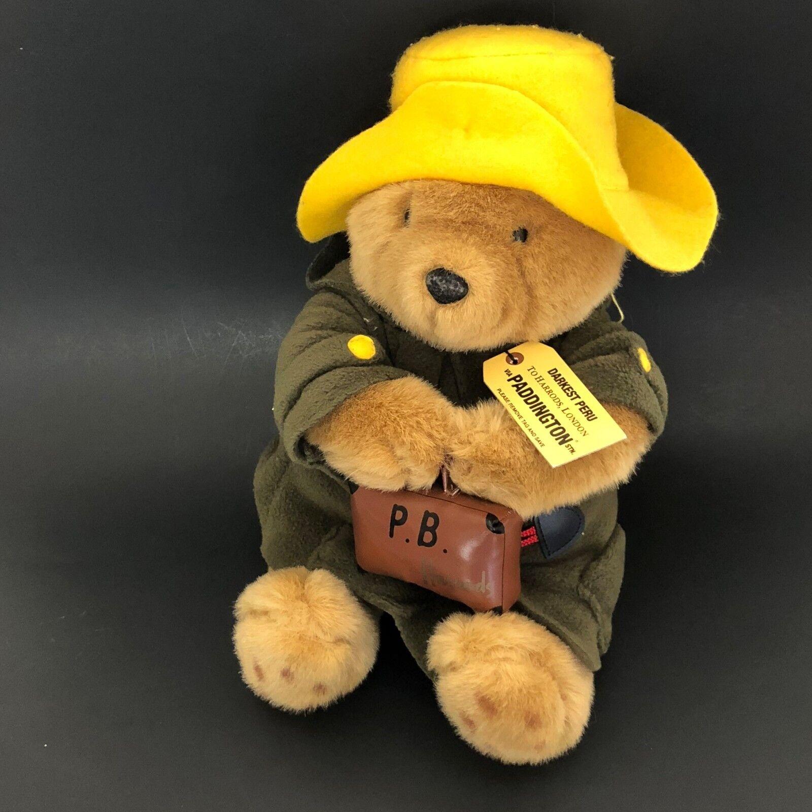 Paddington Bear Harrods London Plush Stuffed giallo Hat Suitcase Darkest Peru