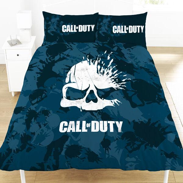 Call of Duty COD Skull Double Duvet Set Camo