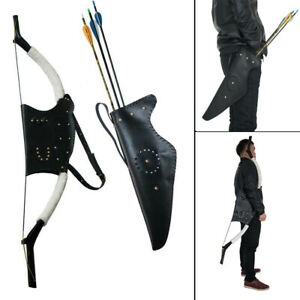Traditional-Archery-Leather-Recurve-Bow-Bag-Arrow-Quiver-Holder-Waist-Hip-Back