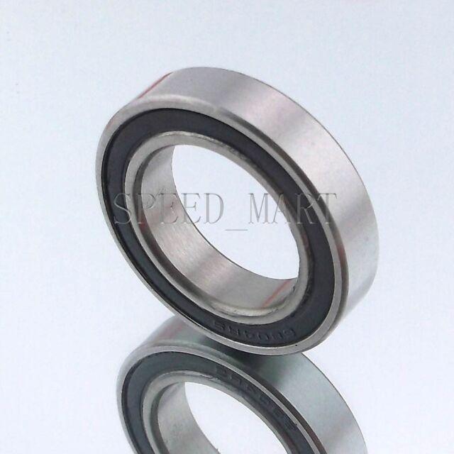 6801-2RS 6801 RS 12x21x5 mm 10pcs Rubber Sealed Ball Bearing Bearings Black