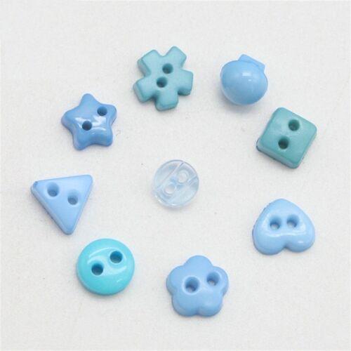 lot 50 Bouton bleu mixte 6mm tige scrapbooking bricolage déco mercerie couture