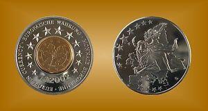 100% De Qualité Médaille Gedenkprägung Rfa Introduction De L'euro 1.1.2002-afficher Le Titre D'origine