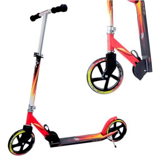 Scooter XXL Big LOW RIDER 200 mm Wheel Rot Schwarz  Roller Cityroller Trotinette