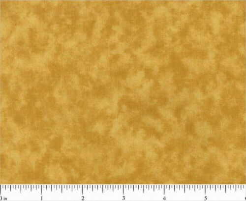 FIVE INCH SQUARES one DOZEN BLENDER 0706 Tinsel Gold MOTTLED SANTEE PRINT WORKS