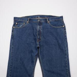 LEVI-STRAUSS-505-Reg-Fit-Straight-Leg-Jeans-Dark-Wash-Denim-Mens-42x30